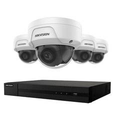 Hikvision NVR 4-channel set with (4) 4MPX IP cameras and 1TB hard drive - ( EKI-K41D44 )