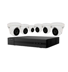 Hikvision NVR 8-channel set with (6) 4MPX IP turret cameras and 2TB hard drive - ( EKI-K82T46 )