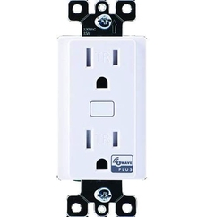 Honeywell Home double Outlet, In-Wall, White - ( Z5OUTLET )