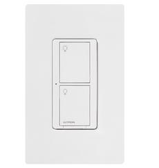 Lutron Interrupteur neutre mural sans fil 6A, 120V - ( PD-6ANS-WH )